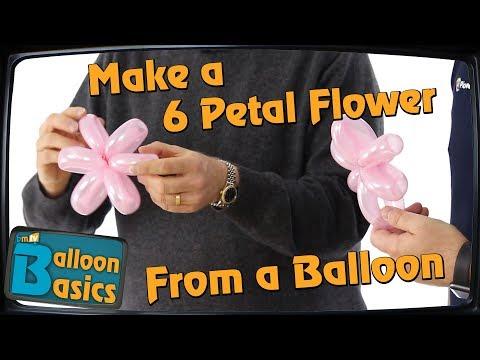 Make a 6 Petal Flower from a 160Q - Balloon Basics 31