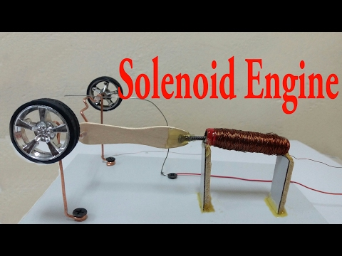 Solenoid Engine/EASY Science Experiment You Can Do at Home/How to make (tutorial)
