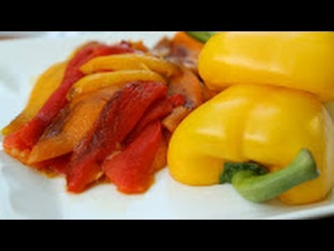 Roasted Bell Peppers on the Grill