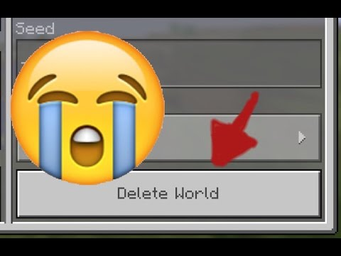 My MCPE World Got Deleted!!! 😱😱 (I Got It Back)