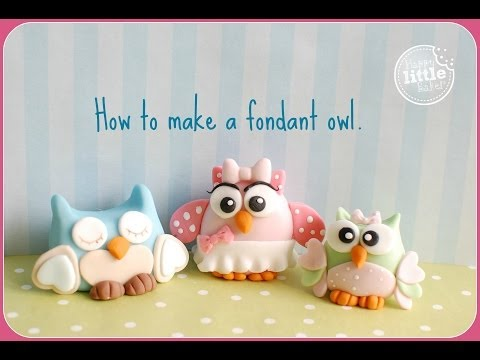 How To Make a Fondant Owl