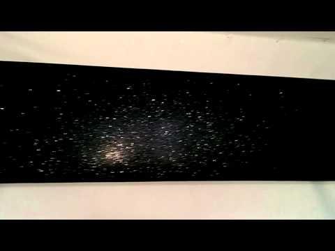 Luxurious black glitter pelmet