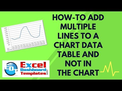 How-to Add Multiple Lines to an Excel Chart Data Table and Not in the Chart