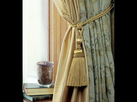 How to tie a Curtain TieBack having Tassels