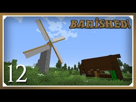 Minecraft Banished Modpack | Windmill & Saw! | E12 (Harsh Survival Minecraft 1.10.2)