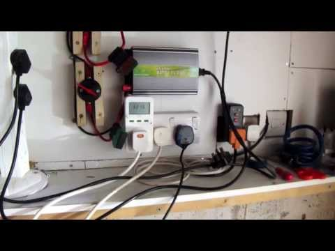Solar grid tied garage setup UK - More panels and re-wire