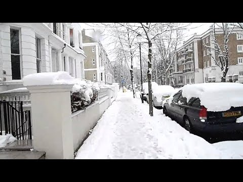 Heavy Snow Rain at Lancing, London - இலண்டனில் கடும் பனி மழை
