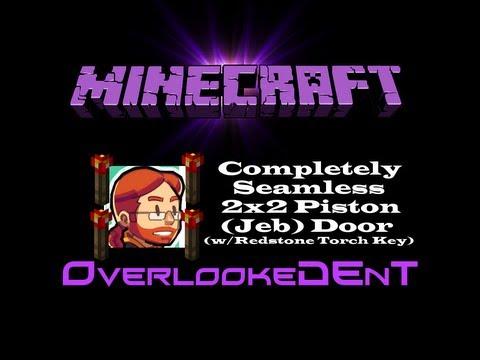 2x2 Seamless Flush Piston (Jeb) Door w/Redstone Torch Key - Minecraft Xbox 360 - [Tutorial]