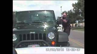Dashboard video of officer-involved shooting
