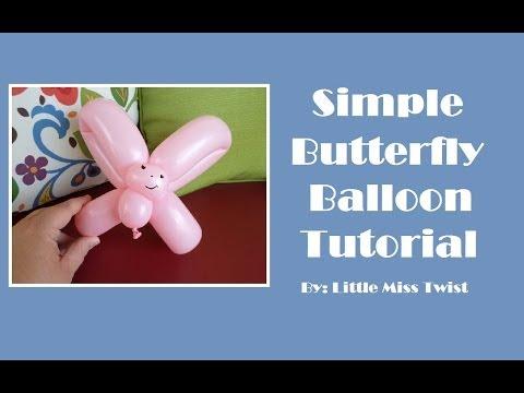 #21 Simple Butterfly Balloon Tutorial