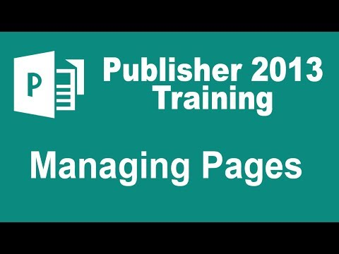 Microsoft Publisher 2013 Training - Managing Pages