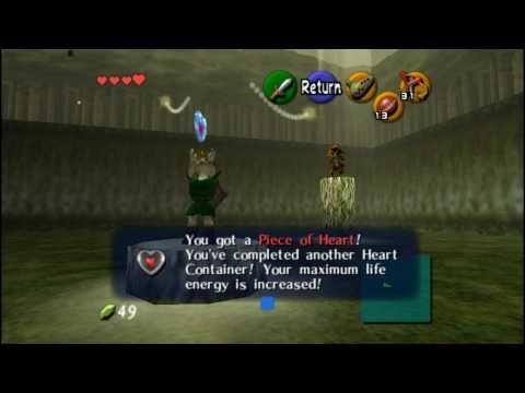 Ocarina of Time (HD) Heart Piece - Skull Kid Saria's Song