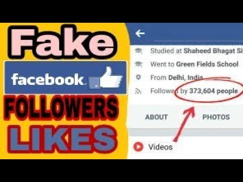 Fake facebook Followers/Likes trick
