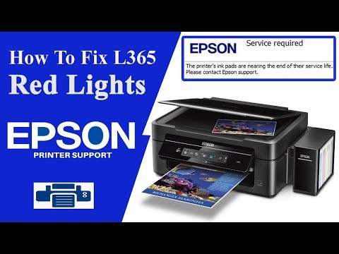 Epson L365 Resetter, | Service Required