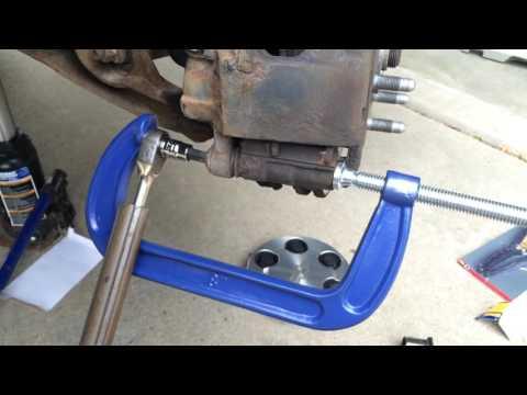Frozen Chevy T55 caliper bolt