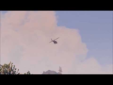 GTA 5 UH 1D Huey low fly by with Real Sound