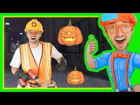 Halloween Songs for Kids with Blippi | Trick or Treat Nursery Rhyme