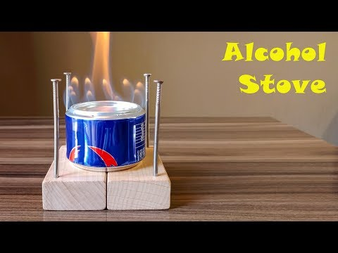 ALCOHOL STOVE - how to make Alcohol Heater with an aluminum can