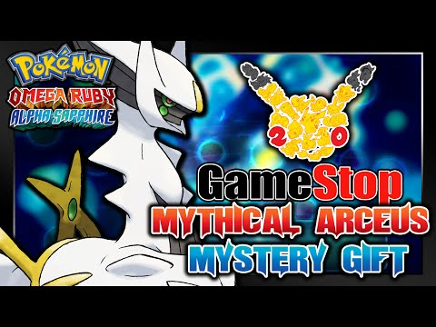 Pokémon Omega Ruby & Alpha Sapphire - GameStop 20th Anniversary Arceus Serial Code Event!