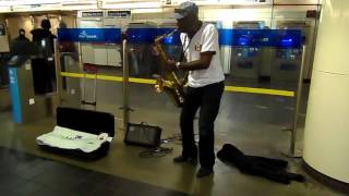 Sax Music In Vancouver Train Station - Relaxing Place