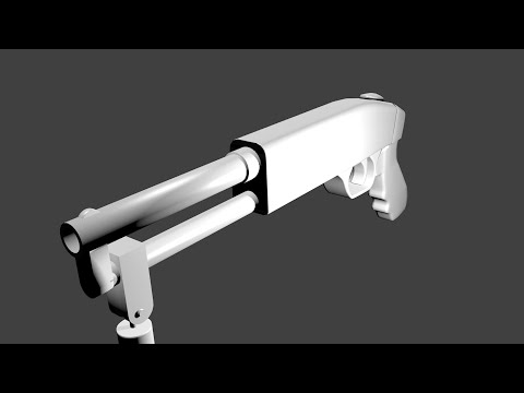 Remington 870 Speed Modeling [Blender]