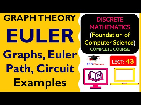 EULER Graphs, Euler Path, Circuit with Solved Examples - Graph Theory Lectures in Hindi