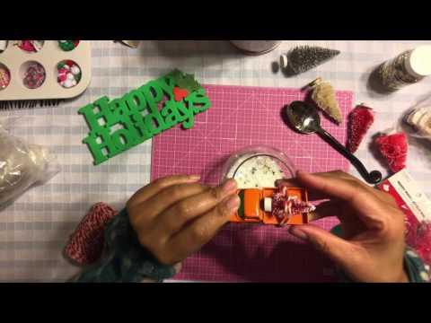 #20🌲 DIY Waterless Snow Globe - Miniature Trees & Model Cars