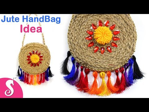 Jute HandBag Idea | Make Stylish Mini Handbags,Purse using Jute for Ladies | Sonali's Creations