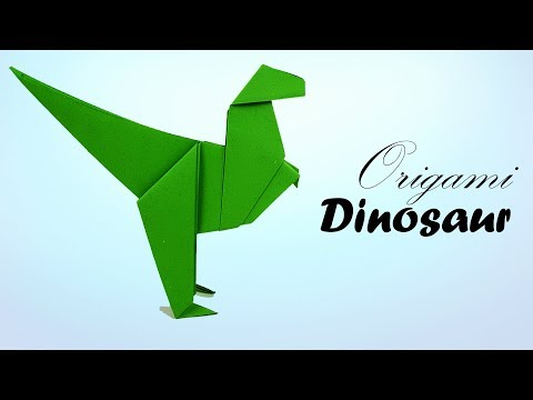 Origami Paper Dinosaur [Dino] - How To Make an Easy Dinosaur or Dragon T-Rex for kids - Paper Work.