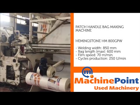 HEMINGSTONE HM 800GPW Used PATCH HANDLE BAG MAKING MACHINE MachinePoint