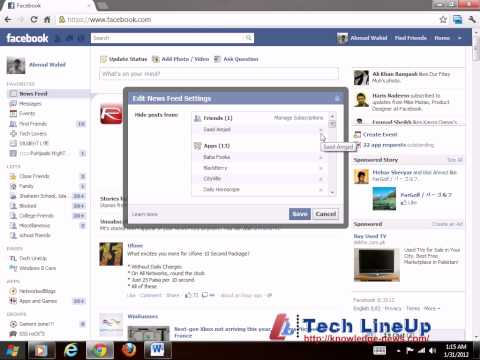 How to UnHide/Show Specific Friend's or Page's Updates to Show in Your Facebook News Feed