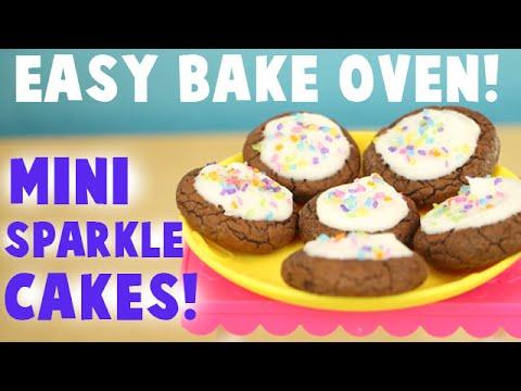 Easy Bake Oven Baking Star Edition - Making Mini Sparkle Cakes