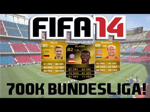 FIFA 14 Ultimate Team | 700k Bundesliga Squad Builder ft. IF Alaba, Robben and Reus!