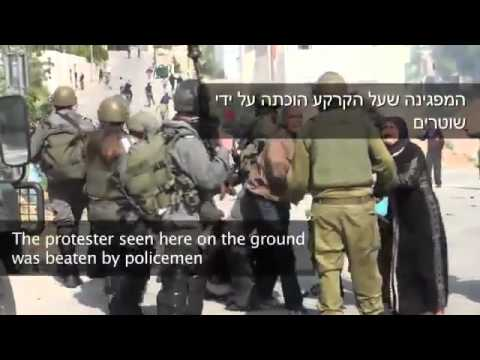 Beaten and harassed the Israeli army of Palestinian women and foreigners !!! IDF