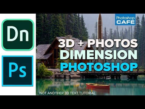 EASY 3D + photo in adobe DIMENSION + PHOTOSHOP (Not a boring text tutorial)
