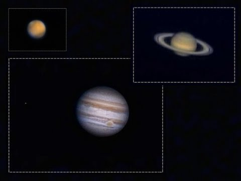 A look at the Mars, Saturn & Jupiter through my telescope