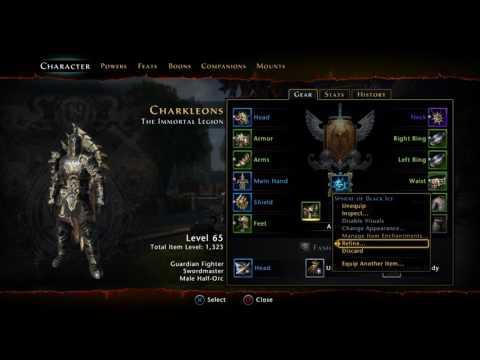 Artefactos - Revisar antes de refinarlo - Neverwinter PS4