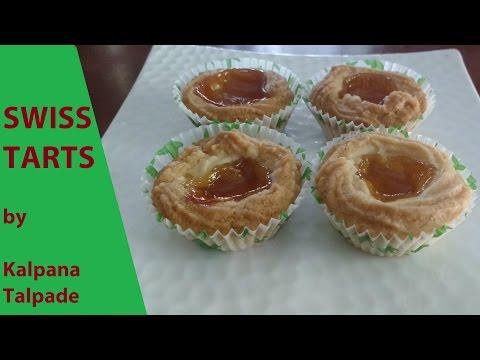 Swiss Tarts by Kalpana Talpade / Jam Tarts / Eggless, no baking powder.