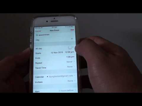 iPhone 6: How to Create a New Calendar Meeting Event