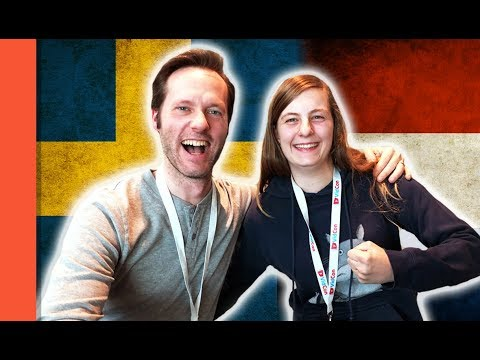 Language Challenge - SWEDISH VS DUTCH #3 - with Selawen at Vidcon Europe in Amsterdam