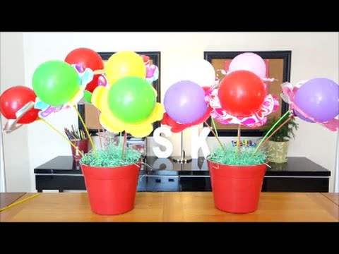 DIY Party Decorations Ideas | Balloon Flower Bouquet Centerpiece | DIY Crafts For Kids