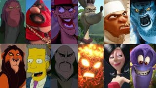 Defeats of My Favorite Animated Movie Villains Part 1 (Re-Upload)