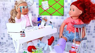 Play with AG  OG Dolls Doctor Toys and Check up
