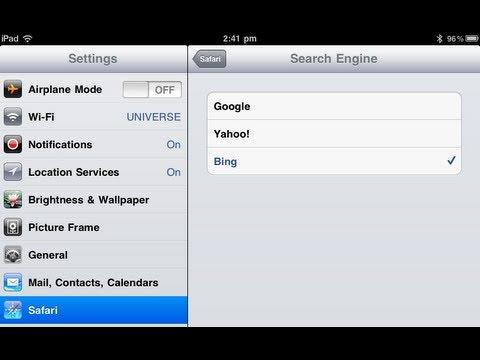 iOS5 Change Default Search Engine on Apple iPad - PhoneRadar