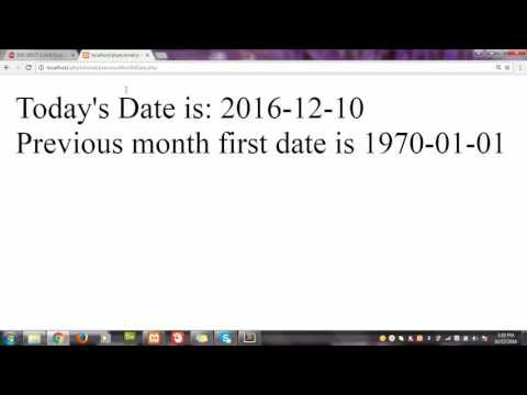 How to get first and last date of previous month in PHP