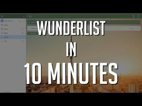 Learn Wunderlist in Under 10 Minutes - Best Free Todo List App 2018