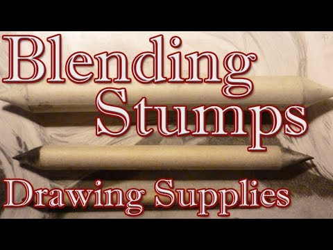 How to Use Blending Stumps - Drawing Supplies