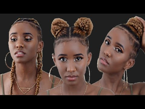 Three easy hairstyles for shaved sides using hair extensions