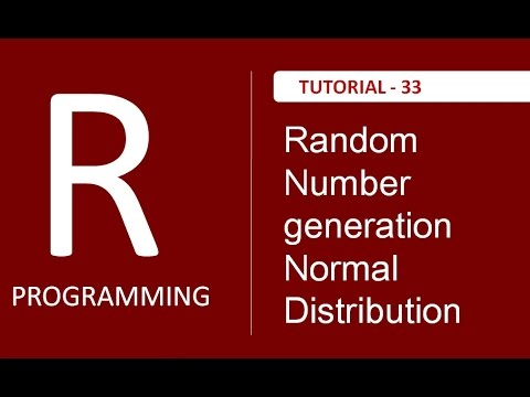 How to generate Random Number for Normal Distribution in R Programming : Tutorial # 33