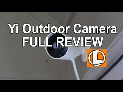Yi Outdoor Security Camera Review - Unboxing, Setup, Settings, Installation, Footage